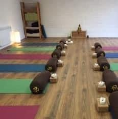 Sadhana yoga studio: calm space with infrared  heaters