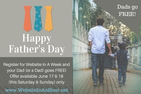 Website In A Week Father's Day Offer