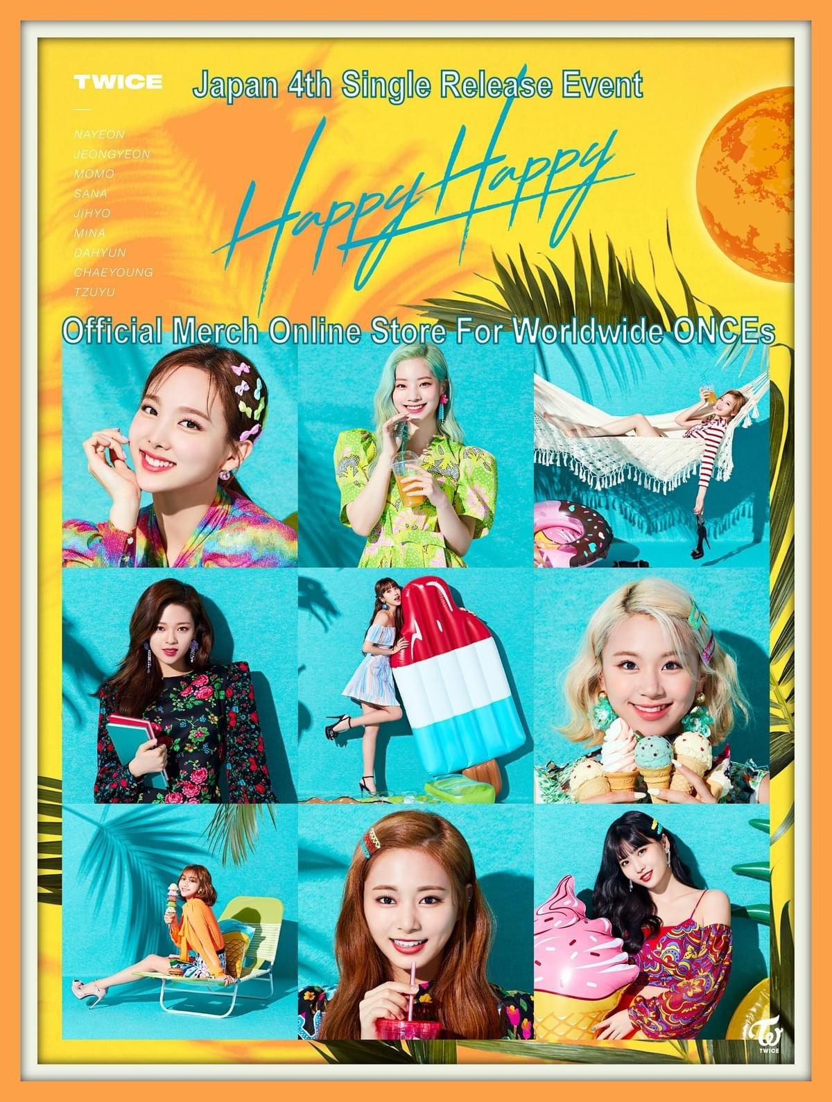 Twice Happy Happy Release Event Official Merch Online Shop For