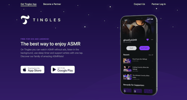 Tingles: The app for ASMR lovers.