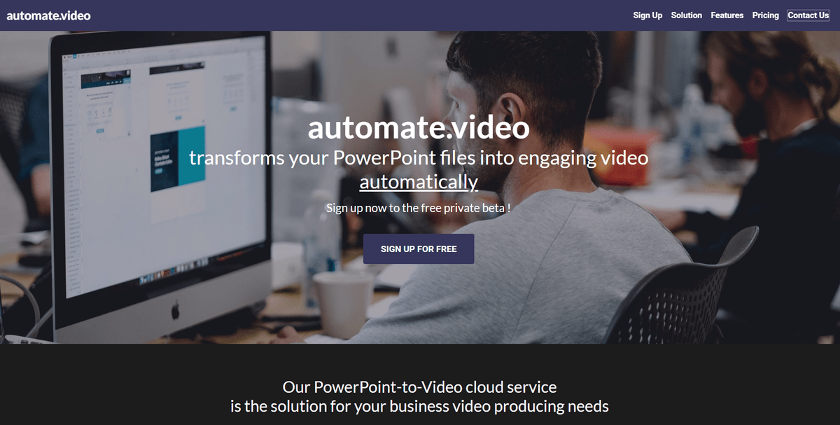 Automate video web site