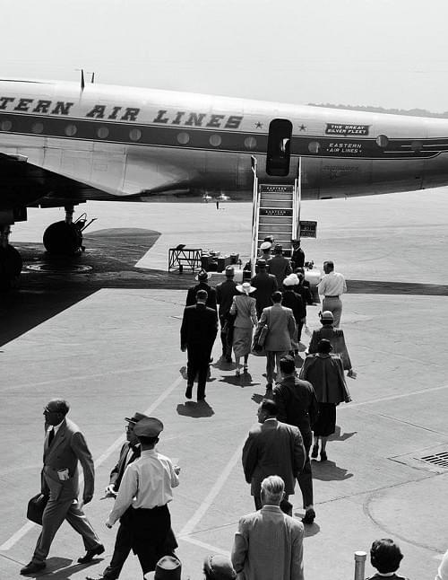Airport security in the 1950s was almost nonexistent.