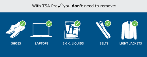 Travelers approved for TSA's PreCheck program don't have to remove much.