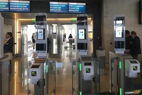 Airports are beginning to use facial recognition kiosks for passenger check-ins and security processing.