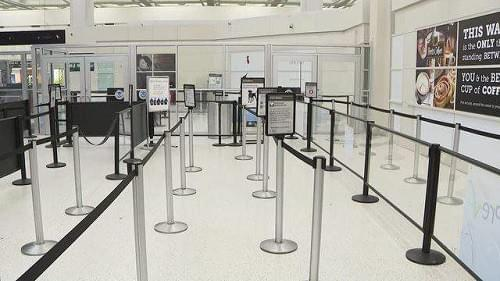 COVID-19 has reduced air traveler numbers through some TSA checkpoints.