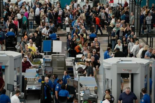 Some observers believe airport security lines help drive assaults against TSA officers.