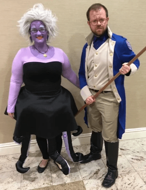 Bonnie Maisen as Disney's Ursula.  Adam Maisen as Kaladin from Brandon Sanderson's Stormlight Archive series
