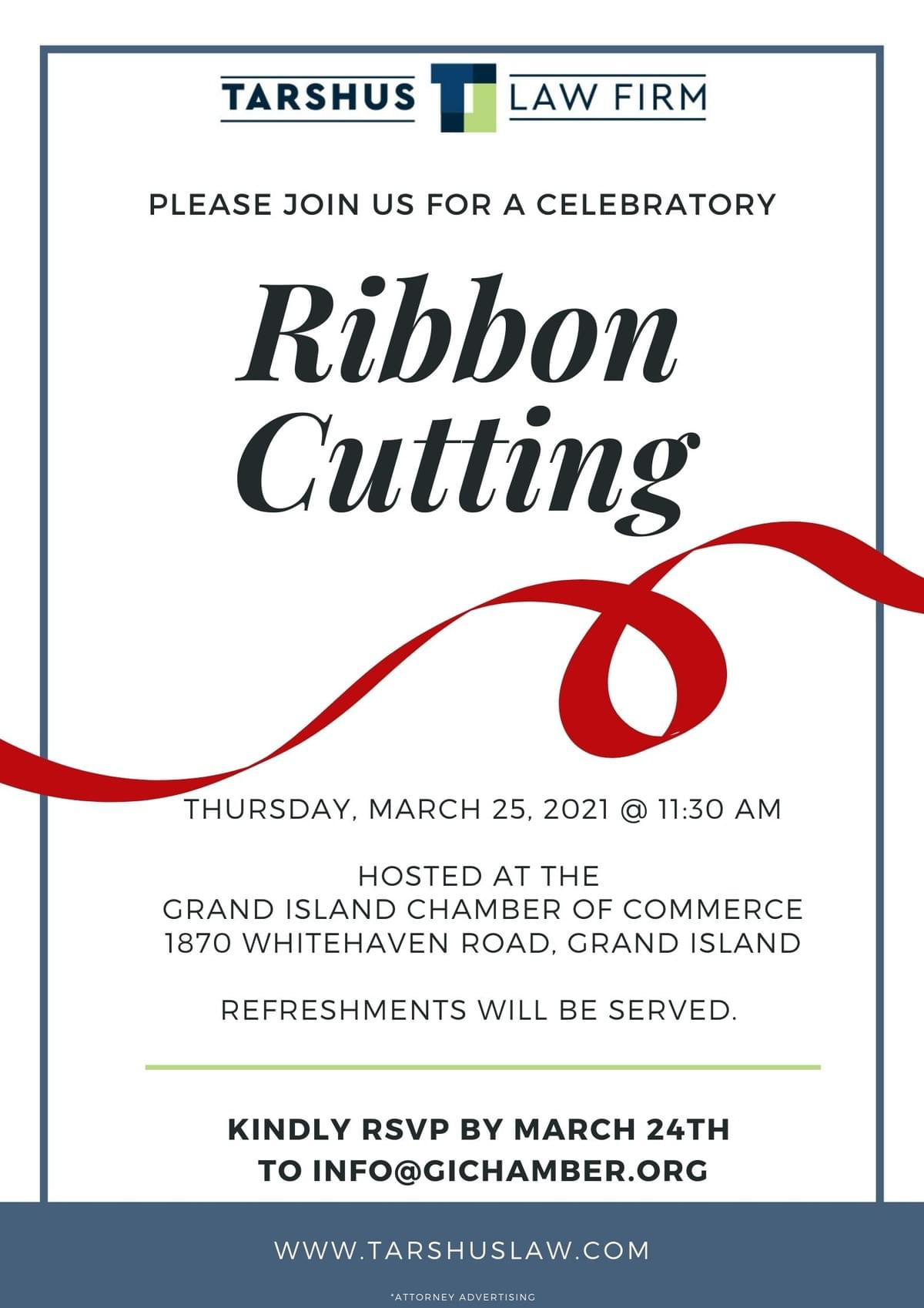 Tarshus Law Firm Celebratory Ribbon Cutting 2021