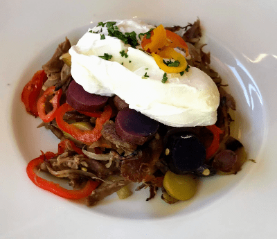 Gluten Free Breakfast Duck Hash Tableau Las Vegas Nevada