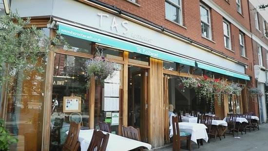 The front of Tas restaurant