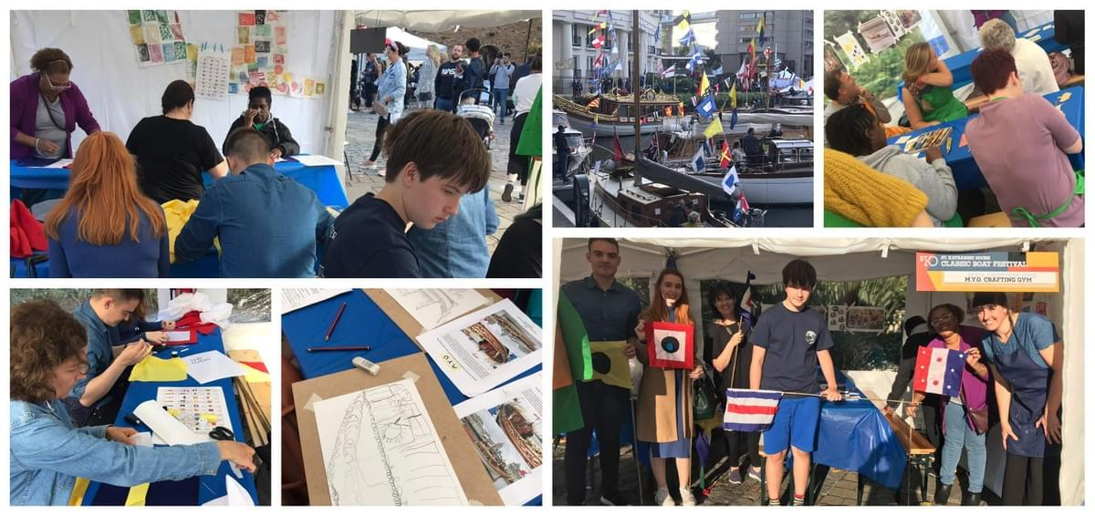 Adults getting creative at the Classic Boat Festival 2019