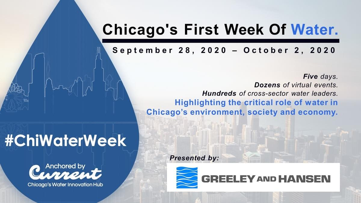Chicago Water Week poster with Greeley and Hansen logo
