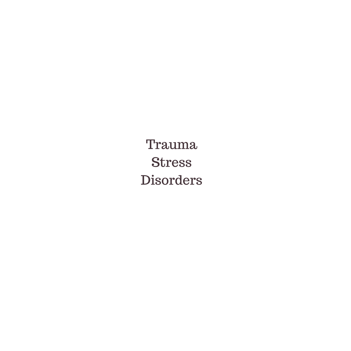 Trauma Stress Disorders - TSR founded by Dr. Ramirez who runs The Chiren Therapy Centre