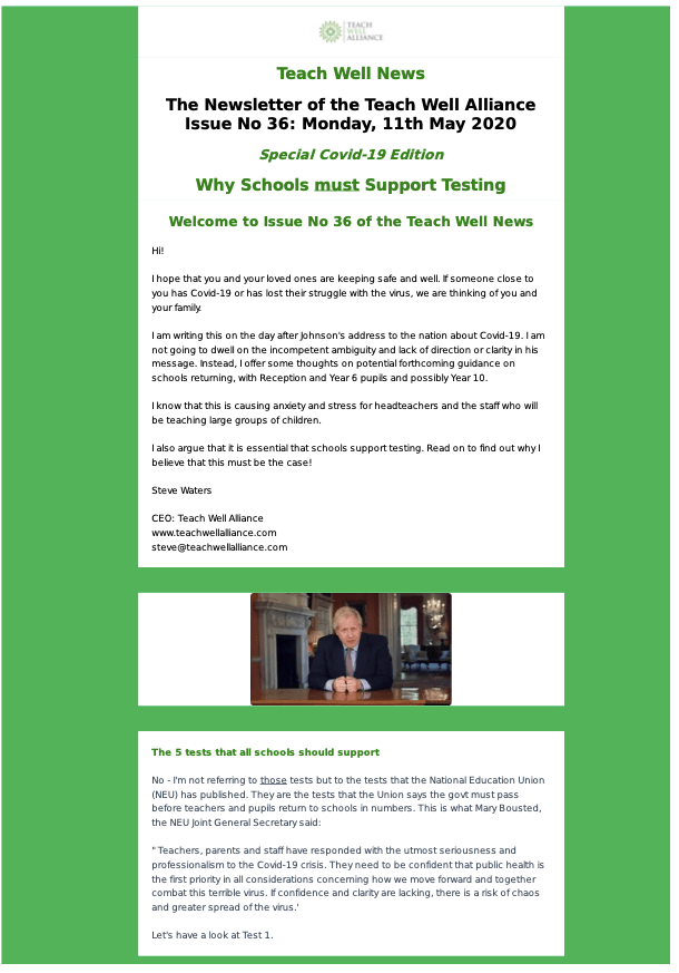 Download Issue 36 Why Schools Must Support Testing