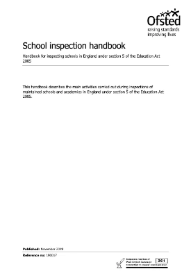 Ofsted School Inspection Handbook May 2019