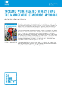 HSE Tackling Work-Related Stress Using the Management Standards Approach