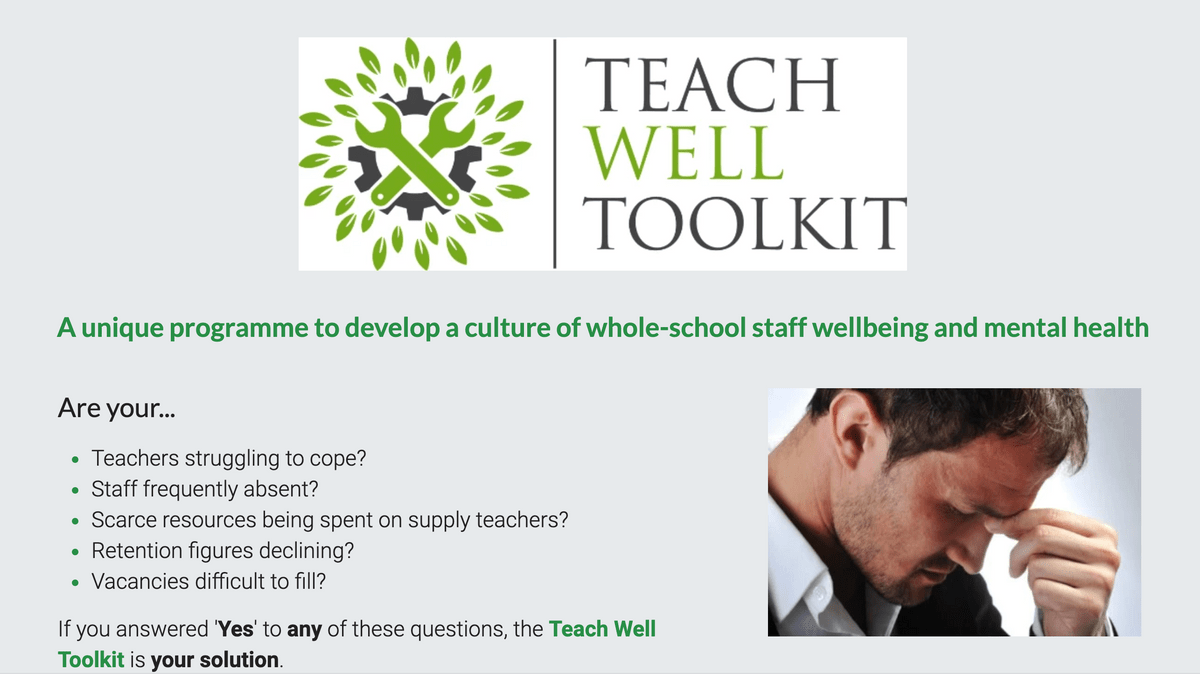 Teach Well Toolkit Page on Teach Well Alliance Website