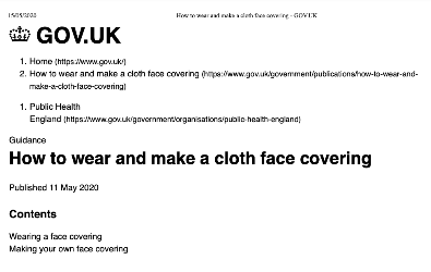How to Wear and Make a Cloth Face covering
