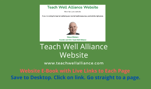 Teach Well Alliance Website EBook with Live Links to Each Page