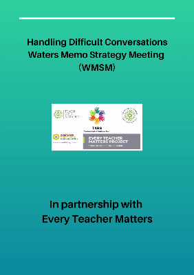 Handling Difficult Conversations Waters Memo Strategy Meeting (WMSM)