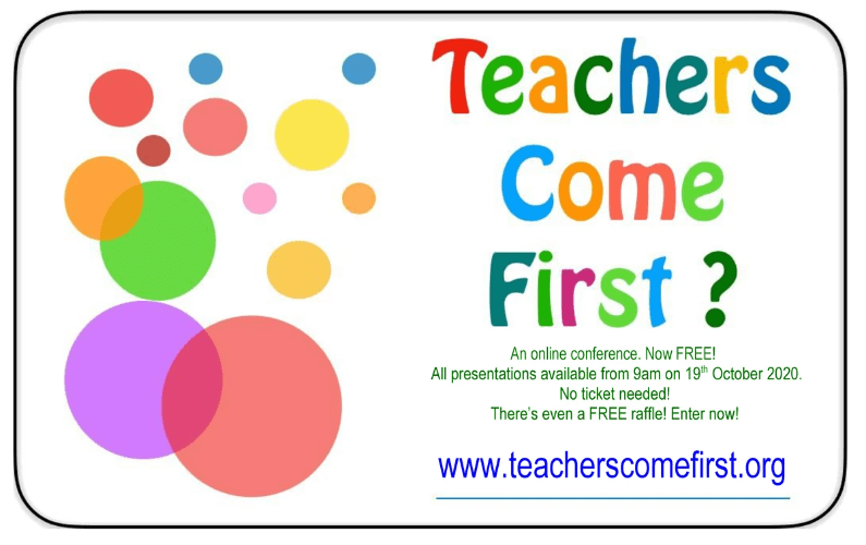 Press Release Teachers Come First Conference 19th October 2020