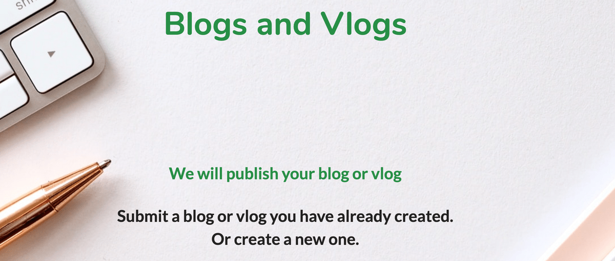 Blogs and Vlogs Page on Teach Well Alliance Website