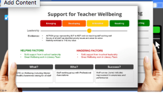 This is an example of a report that has been compiled in the School Wellbeing iAbacus from judgements that have been made and the information the school has provided.