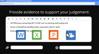 Upload files that support your judgements to the School Wellbeing iAbacus.