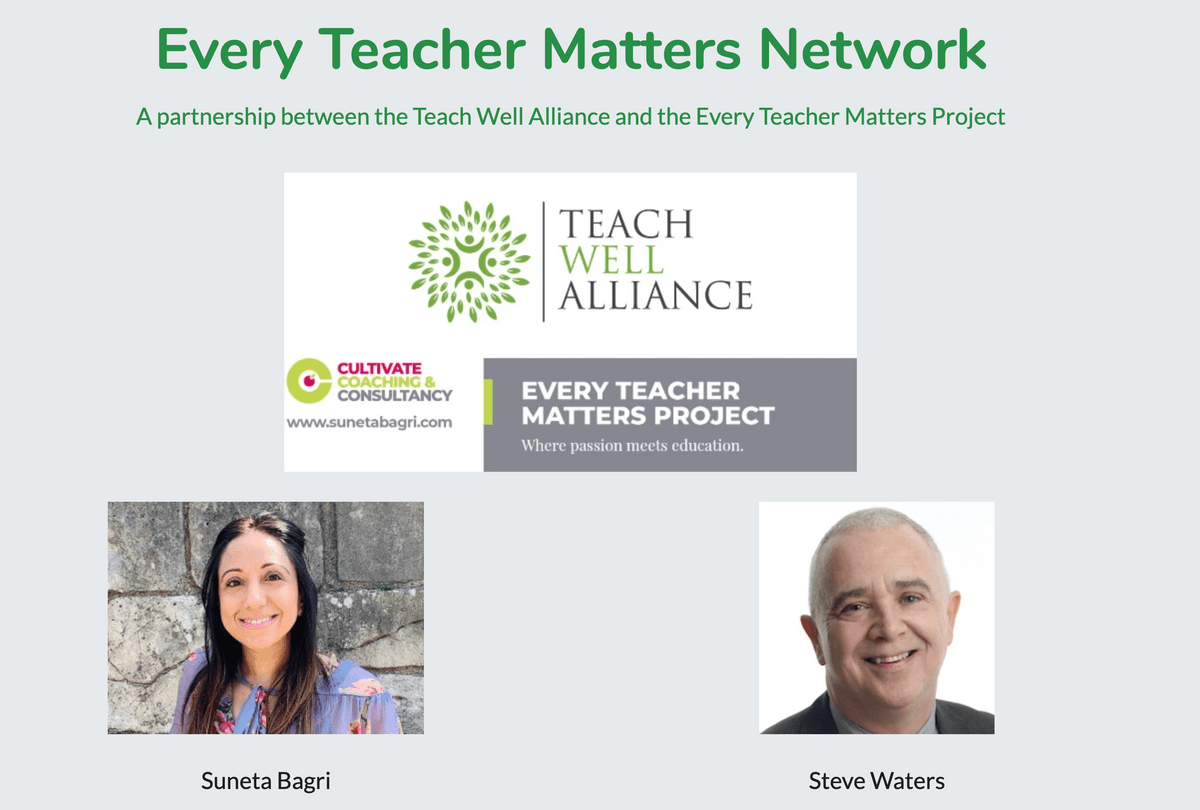 Every Teacher Matters Network Page on Teach Well Alliance Website