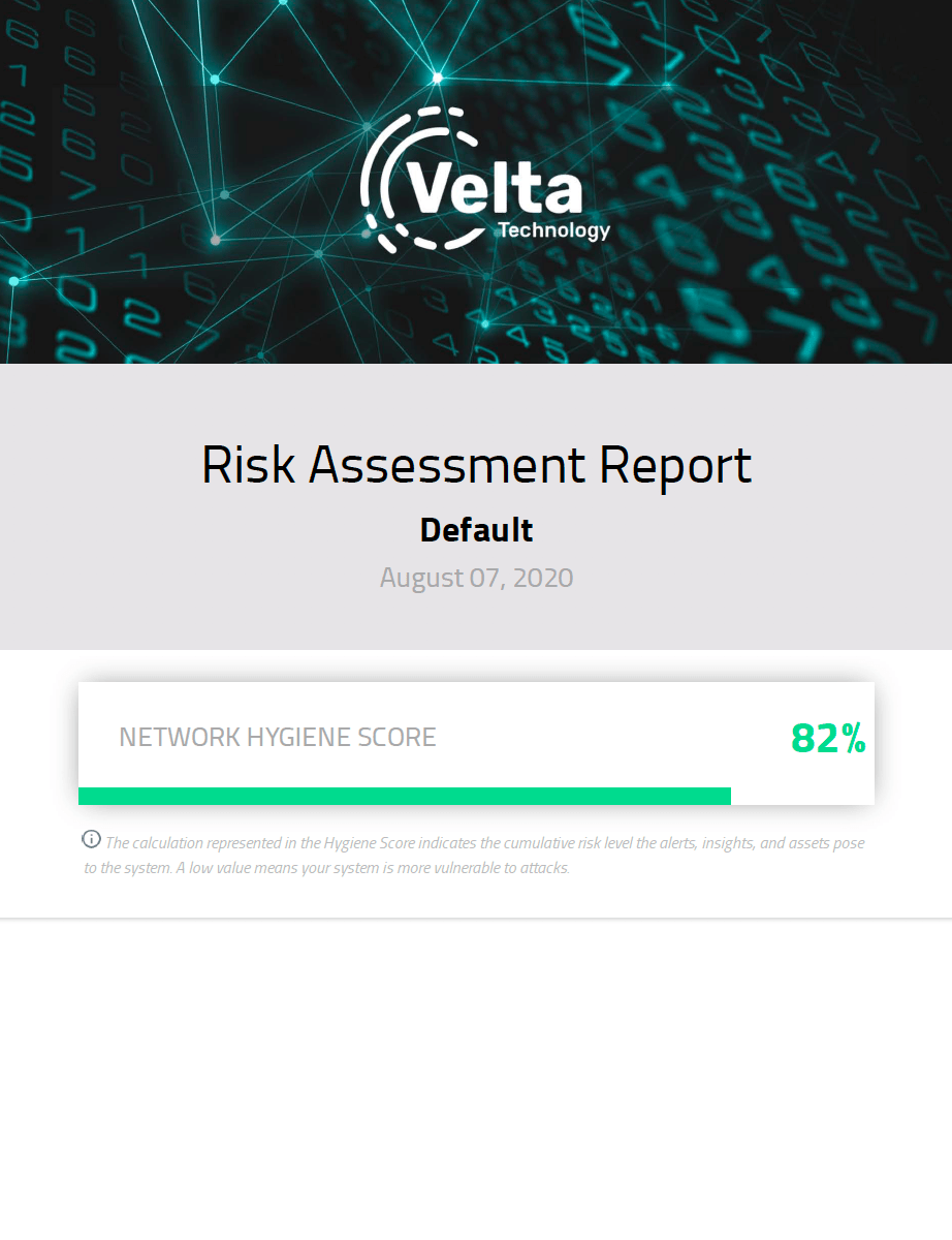 Velta Technology Risk Assessment Report
