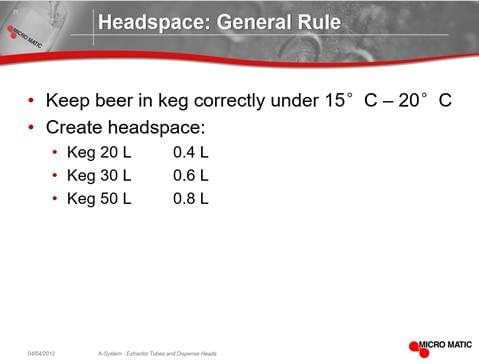 Beer kge filling guide for different keg capacity