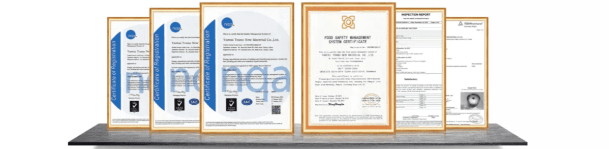 beer keg certificate and test report