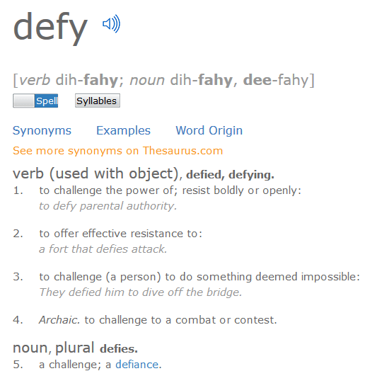Defy fitness Napa valley - By definition it is what we do!