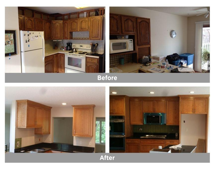 Kitchen Cabinets Before and After Edina, MN