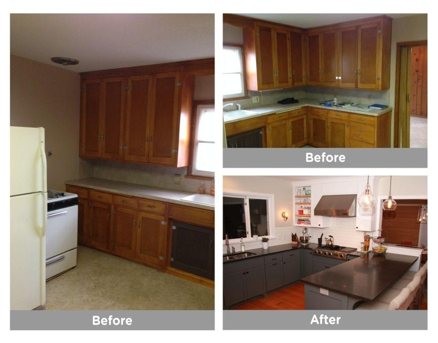 Before and after kitchen remodel maple grove, mn