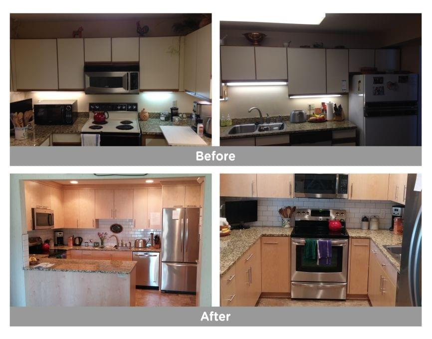 remodeling transformation with a before and after in minnesota