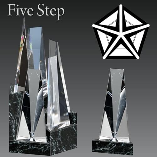 Five Step Award Trophy