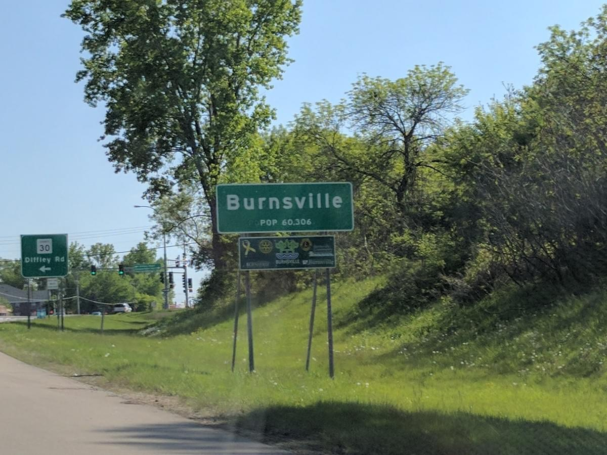 Road Sign in Burnsville