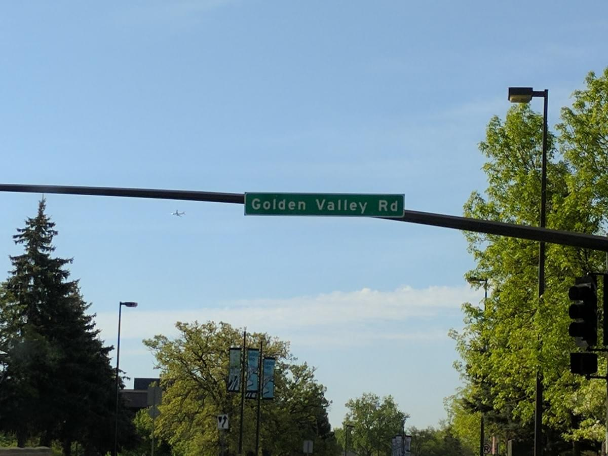 Road Sign in Golden Valley