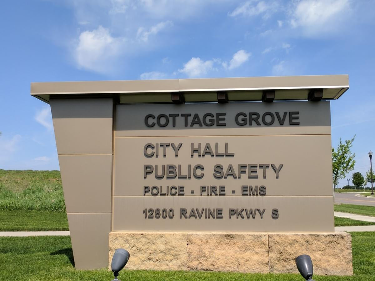 Public Safety Sign in Cottage Grove