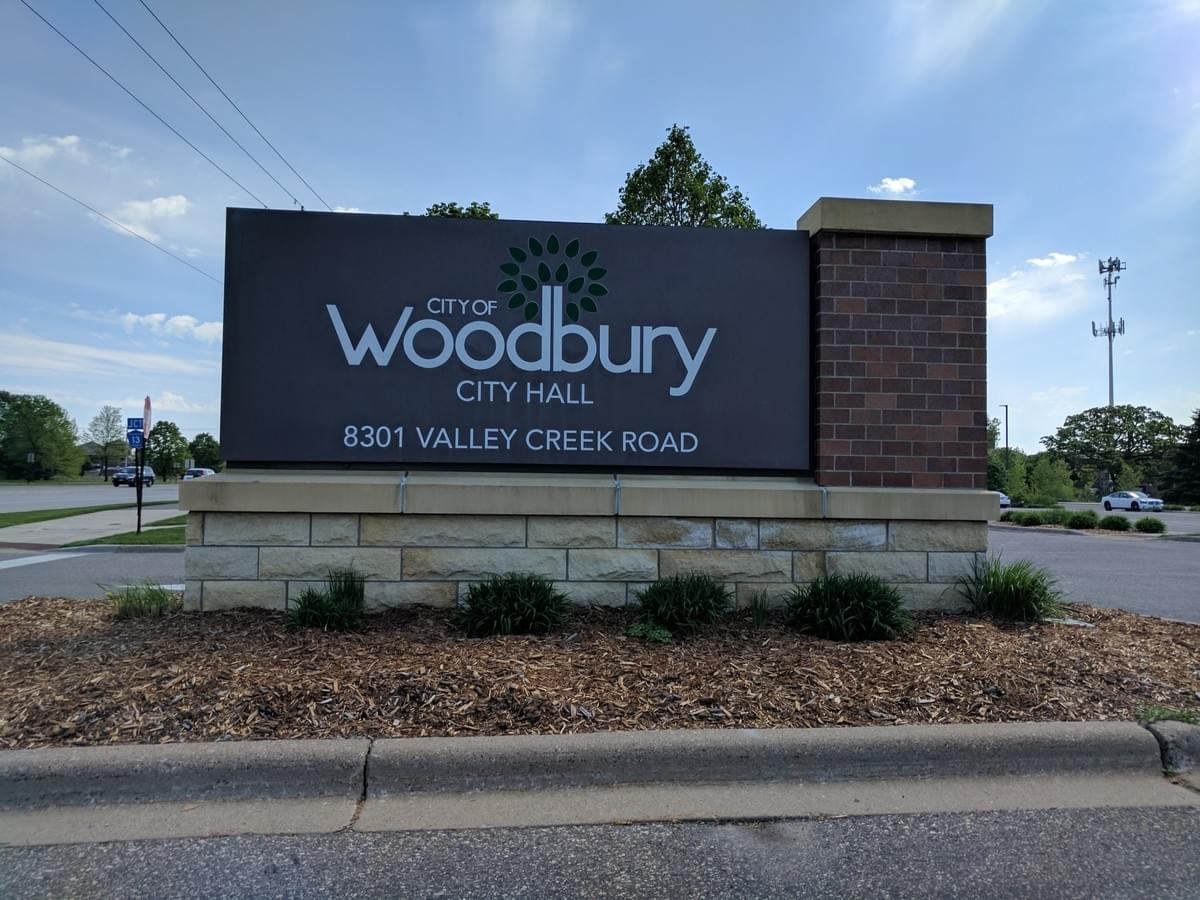 Road Sign in Woodbury