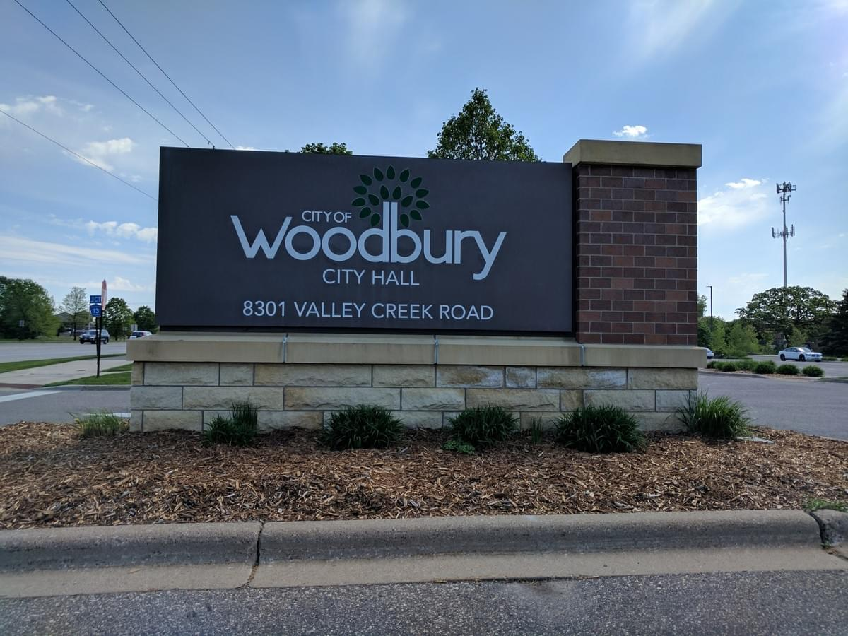 City Sign in Woodbury