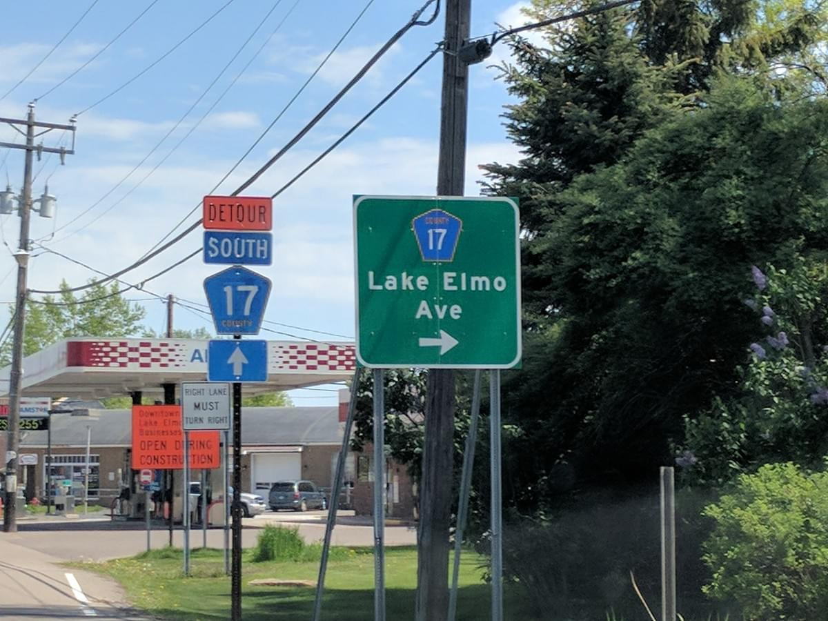 Road Sign in Lake Elmo