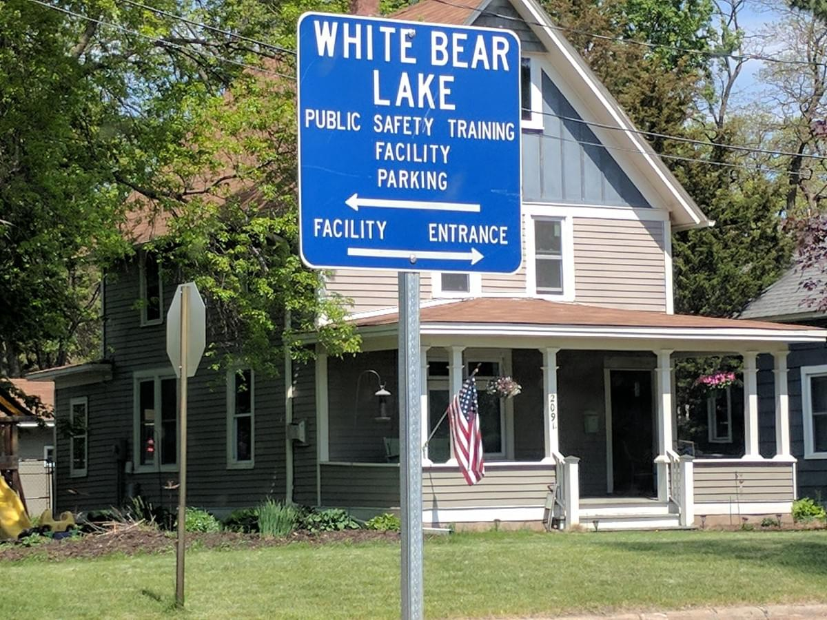 Road Sign in White Bear Lake