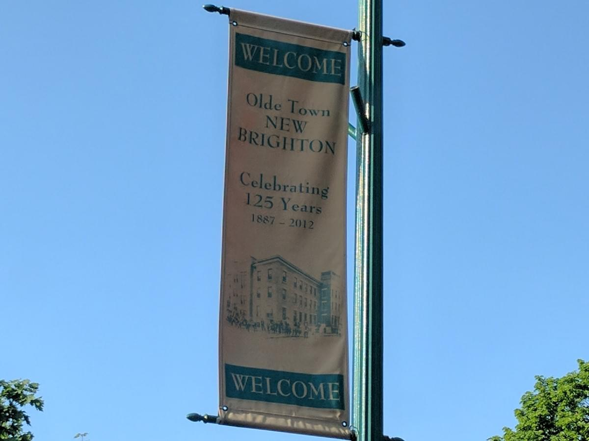 City banner in New Brighton