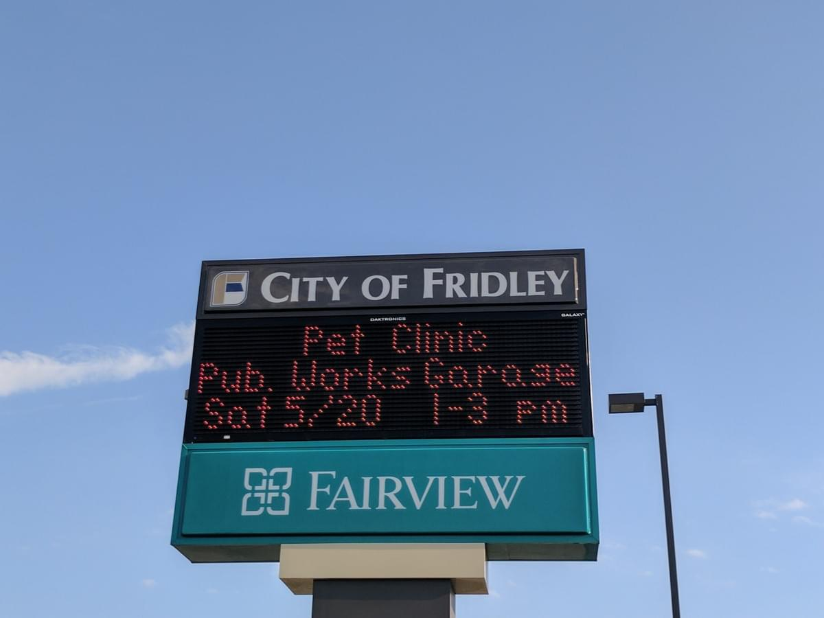 City Sign in Fridley