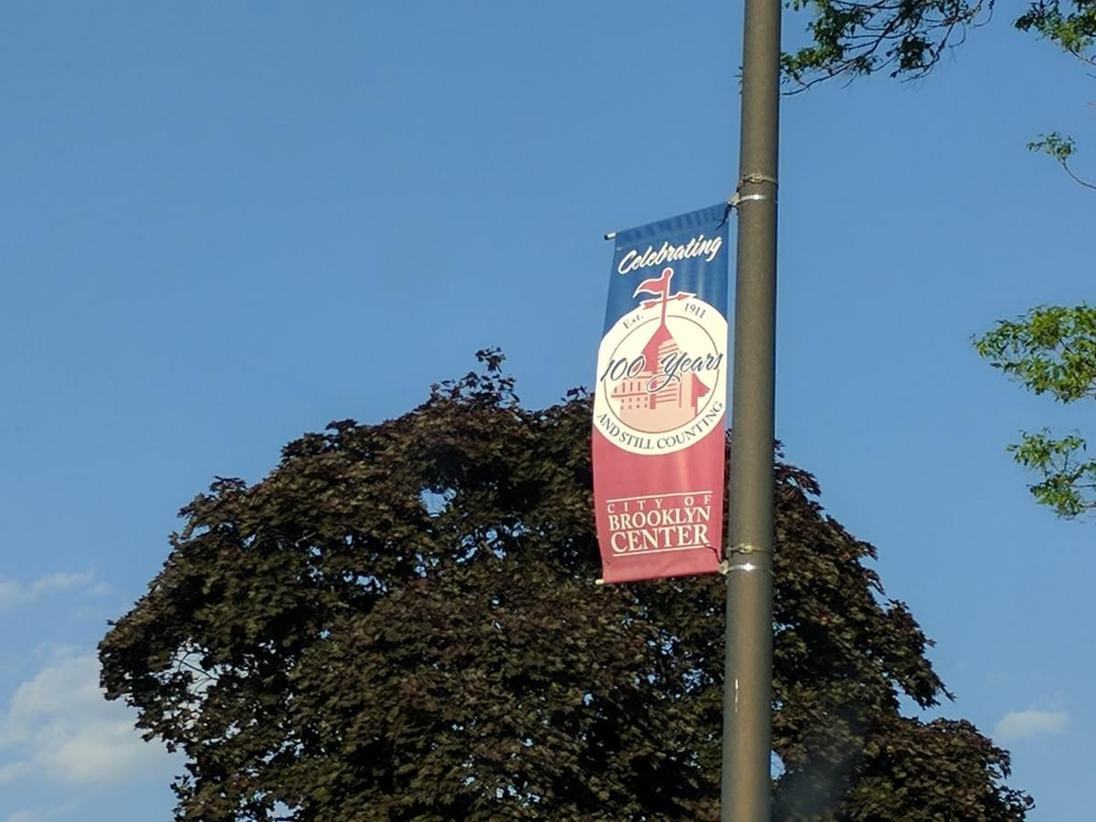 City Banner in Brooklyn Center