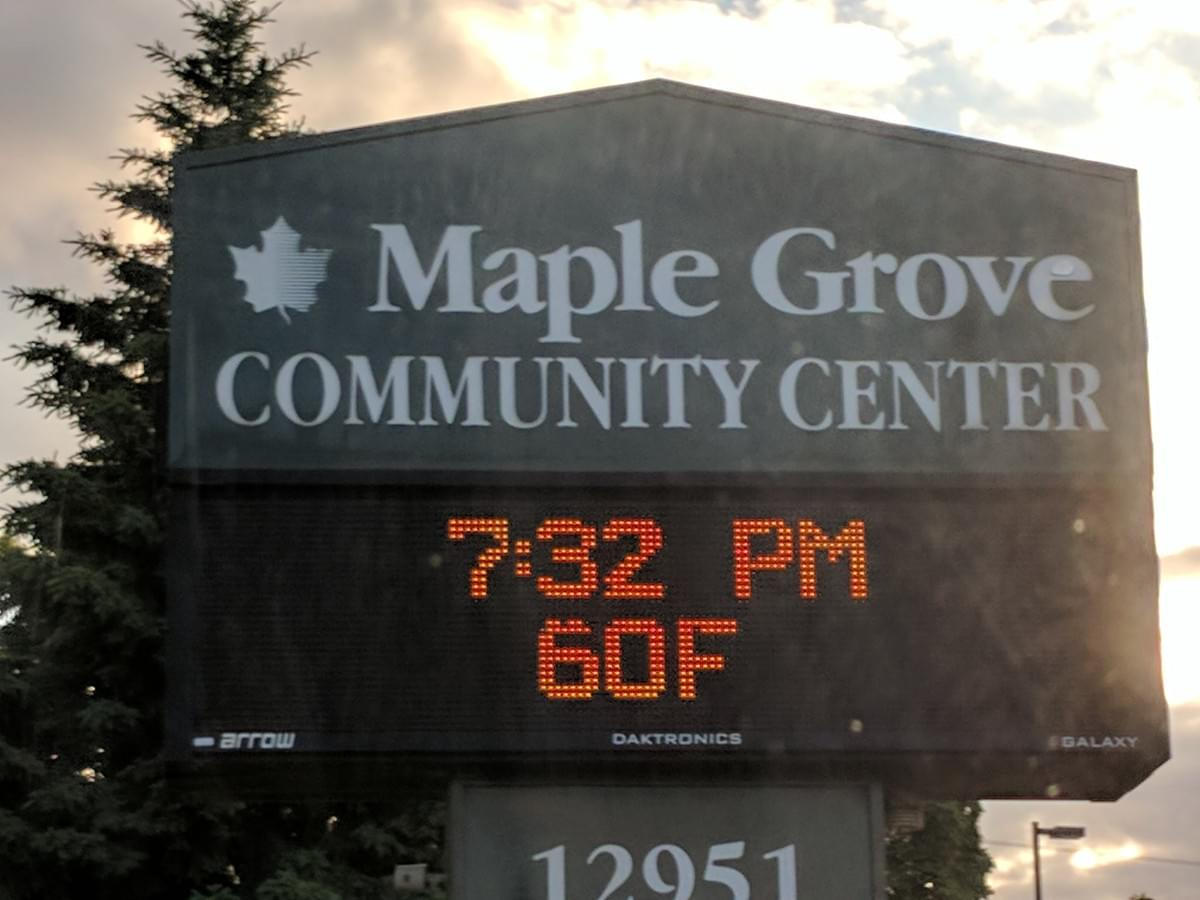 City Sign in Maple Grove
