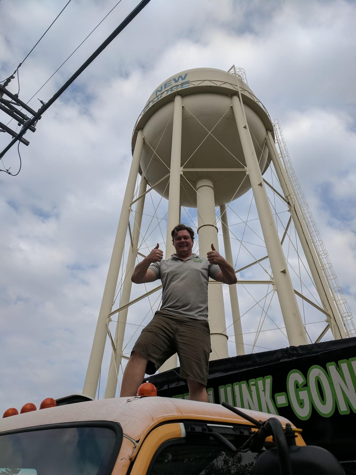 new hope water tower cleanup with junk guy