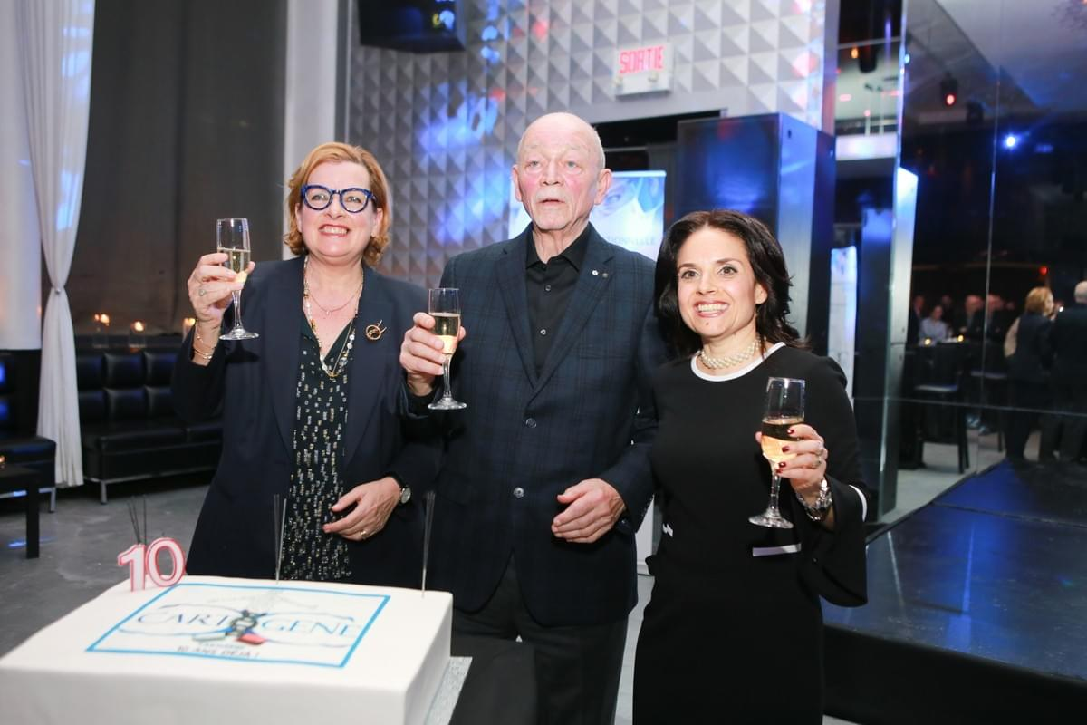 From left to right: founders Prof. Bartha Knoppers et Dr. Claude Laberge, Alexandra Obadia (CEO)
